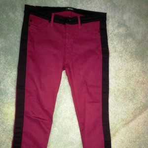 Hudson Red Stretch Skinny Crop Jeans Pants 31
